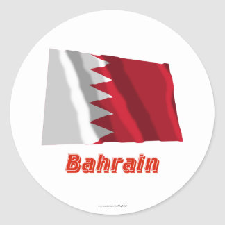 Bahrain Waving Flag with Name Stickers
