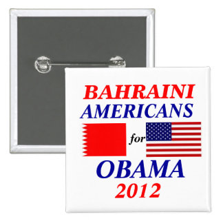 bahraini americans for Obama Buttons