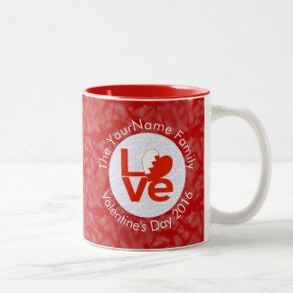 Bahraini LOVE White on Red Two-Tone Coffee Mug