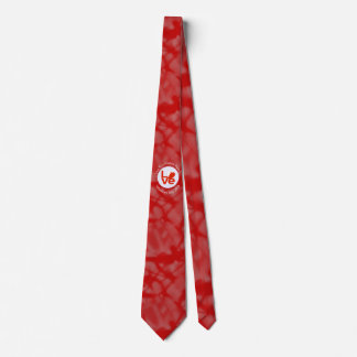Bahrainian LOVE White on Red Neck Tie