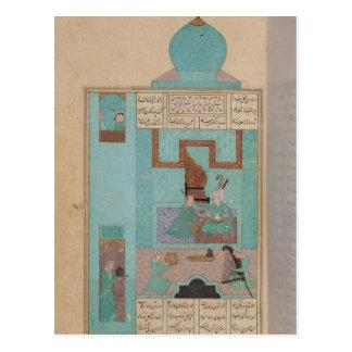 Bahram visita a una princesa en la turquesa postal