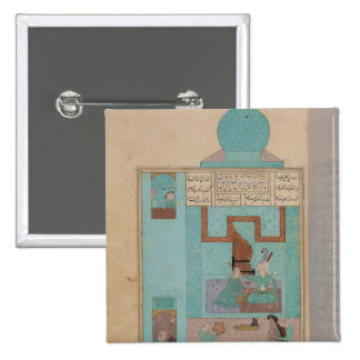 Bahram Visits a Princess in the Turquoise 2 Inch Square Button