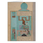 Bahram Visits a Princess in the Turquoise Greeting Card