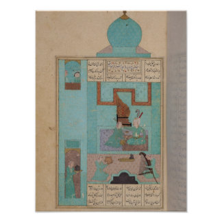 Bahram Visits a Princess in the Turquoise Print