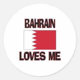 Bahrein me ama etiqueta redonda
