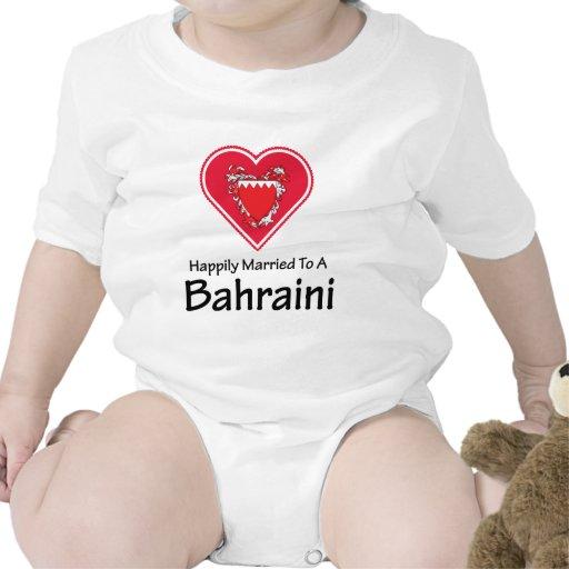 Bahreiní feliz casado camiseta