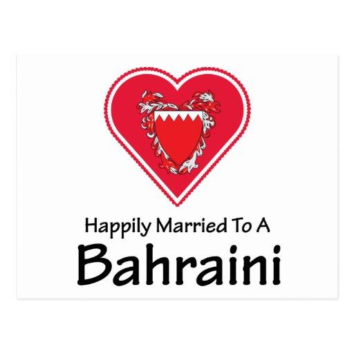 Bahreiní feliz casado tarjetas postales
