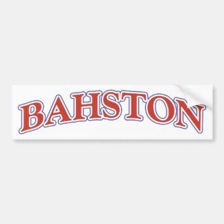 BAHSTON BUMPER STICKER