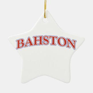 BAHSTON! CERAMIC ORNAMENT