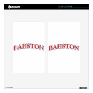 BAHSTON! DECALS FOR KINDLE FIRE