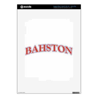 BAHSTON! iPad 3 DECALS