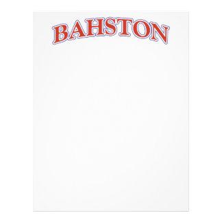 BAHSTON! LETTERHEAD
