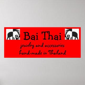 Bai Thai Sign Print