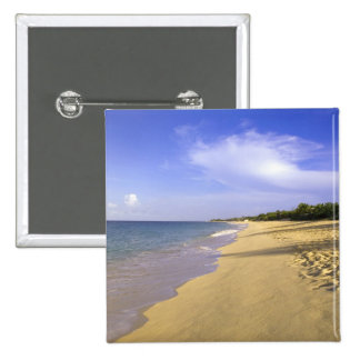 Baie Longue Long Bay beach, St. Martin, Pinback Button