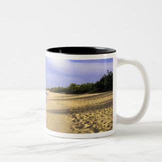 Baie Longue Long Bay beach, St. Martin, Two-Tone Coffee Mug