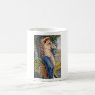 Baigneuse Se Coiffant (Bather Styling) female nude Coffee Mug