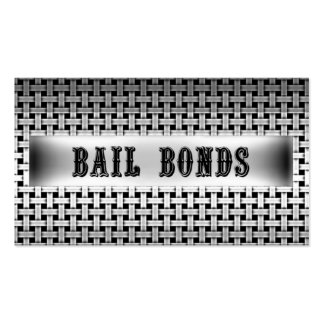 Bail Bonds Metal Look Business Card