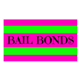 Bail Bonds Neon Colors Business Card