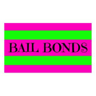 Bail Bonds Neon Colors Business Card Templates