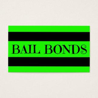Bail Bonds Neon Green Business Card