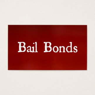 Bail Bonds Red Business Card