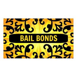 Bail Bonds Sunshine Damask Business Card