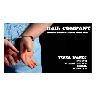 Bail  bondsman business card
