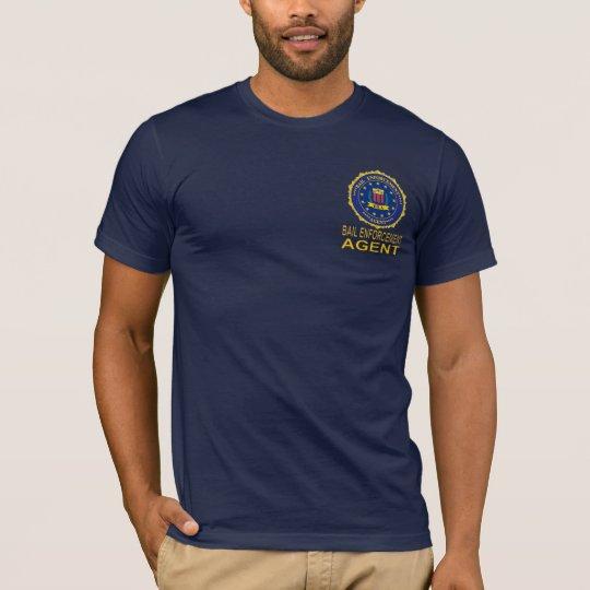 BAIL ENFORCEMNT AGENT  T SHIRT Navy blue