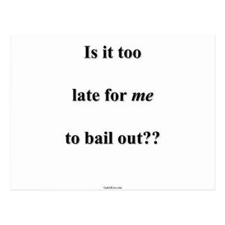 Bail Me Out Postcard