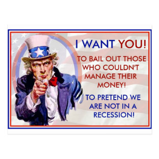 Bail Recession Post Card