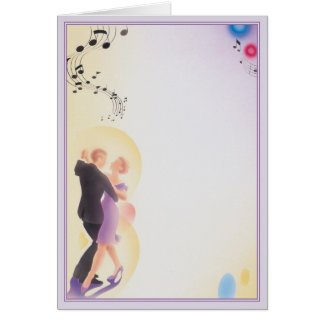 Bailamos el © tarjeta de felicitación
