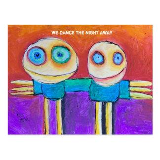 bailamos la noche lejos postal
