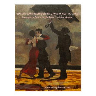 """""""Bailando en la lluvia """" Postal"""