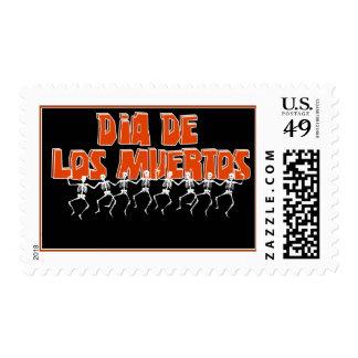 Bailando Para Dia De Los Muertos Stamp