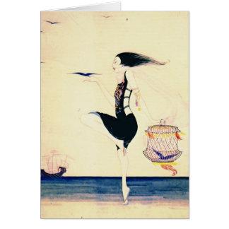 Bailarín 1916 de la arena tarjeta de felicitación