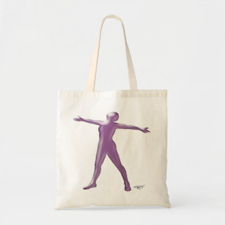 Bailarín a solas de la lavanda bolsas lienzo