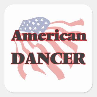 Bailarín americano pegatina cuadrada