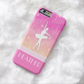 Bailarín apasionado de la pendiente rosada con los funda para iPhone 6 barely there