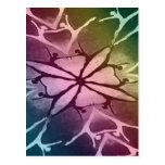Bailarín (arco iris - torsión) tarjetas postales