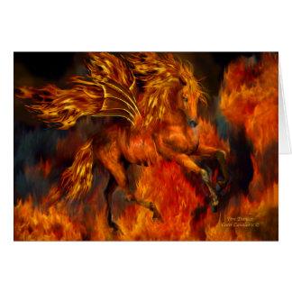 Bailarín ArtCard del fuego Tarjetas