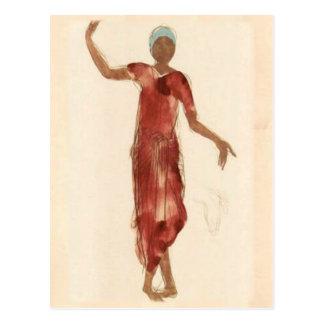 Bailarín c1906 de Camboya de Rodin del ~ de la Tarjeta Postal