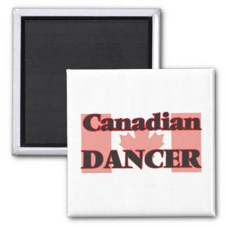 Bailarín canadiense imán cuadrado
