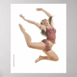 Bailarín color de rosa póster