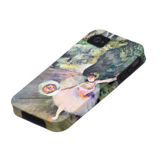 Bailarín con un ramo de flores de Edgar Degas iPhone 4 Carcasas