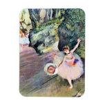 Bailarín con un ramo de flores de Edgar Degas Imán Rectangular