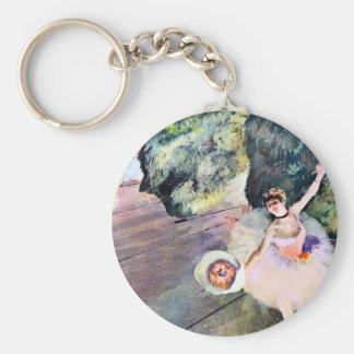 Bailarín con un ramo de flores de Edgar Degas Llaveros Personalizados