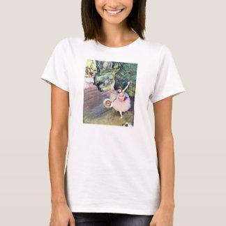 Bailarín con un ramo de flores de Edgar Degas Playera