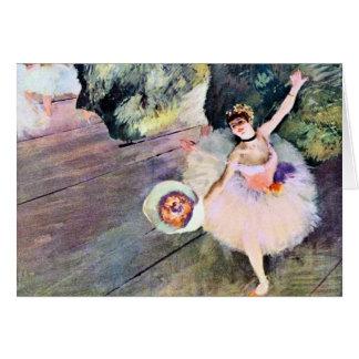 Bailarín con un ramo de flores de Edgar Degas Tarjeta De Felicitación