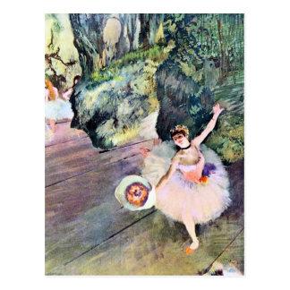 Bailarín con un ramo de flores de Edgar Degas Tarjeta Postal