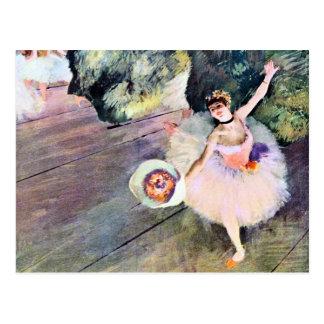 Bailarín con un ramo de flores de Edgar Degas Tarjetas Postales